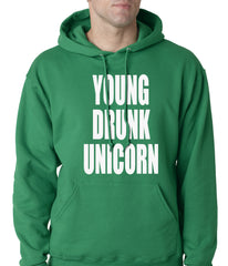 Young Drunk Unicorn Adult Hoodie