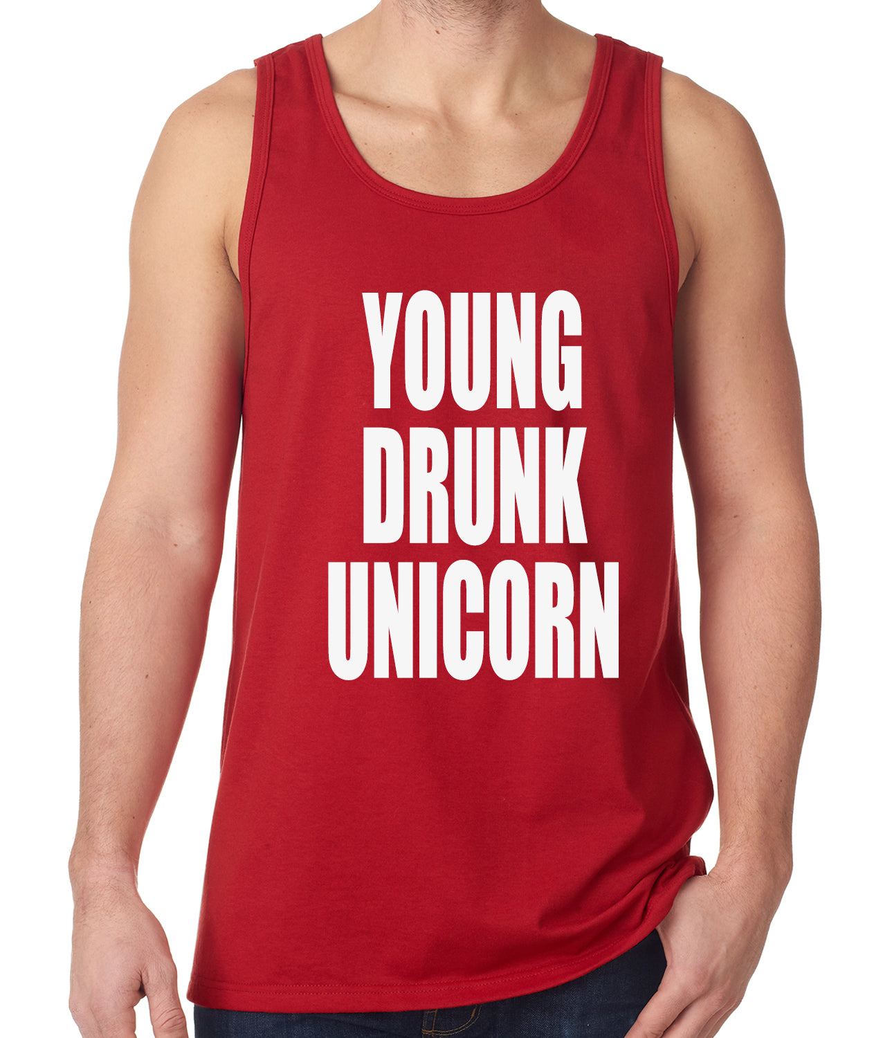 Young Drunk Unicorn Tank Top