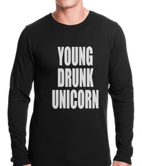 Young Drunk Unicorn Thermal Shirt