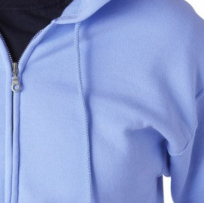 Zip Up Hooded Sweatshirt :: Premium Hoodie With Zipper (Light Blue)