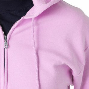 Zip Up Hooded Sweatshirt :: Premium Hoodie With Zipper (Light Pink)