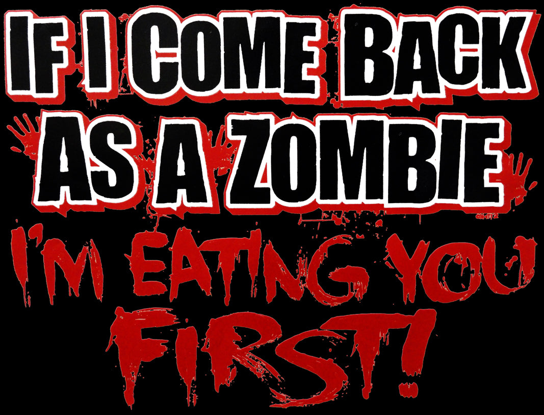 Zombie Hoodies - Eat You First Adult Hoodie
