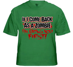 Zombie Tees - Eating You First Men's T-Shirt