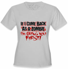Zombie Tees - Eating Your First Women's T-Shirt