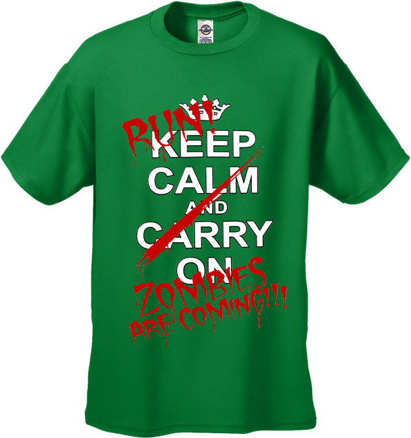 Zombie Tees - Keep Calm Zombies Are Coming Men's T-Shirt