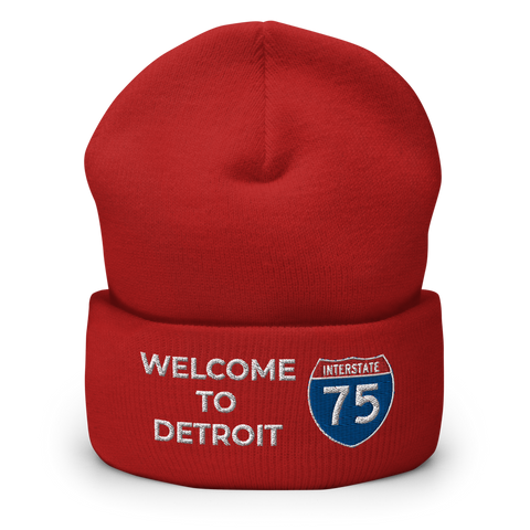 Welcome To Detroit Cuffed Beanie