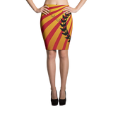 Royal Fire Pencil Skirt