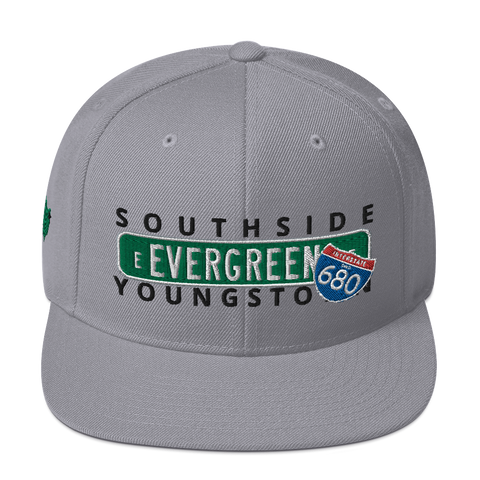 Concrete Streets E Evergreen Ave Snapback Hat