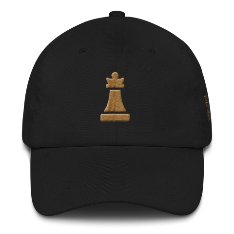 Queen Piece Gold Adjustable Hat