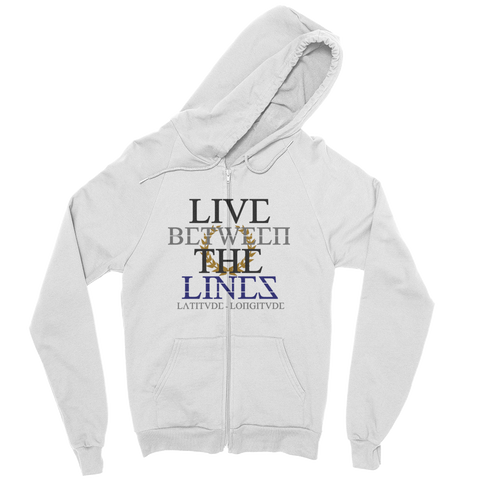 Between The Lines Zip Hoodie Dark
