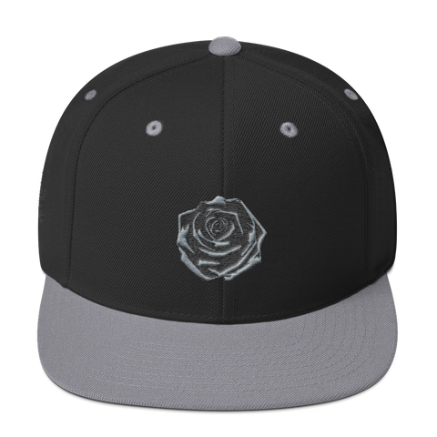 Black Rose Snapback Hat