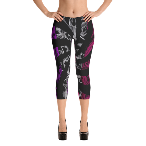Roses Spin Capri Leggings
