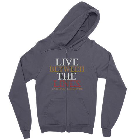 Between The Lines Zip Hoodie