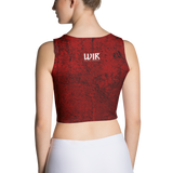 Red Wedding Crown Crop Top