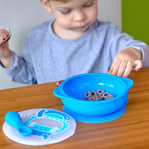Marcus & Marcus Suction Bowl with Lid - Lucas