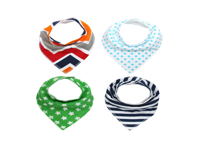 Chevron Bandana Bib Set