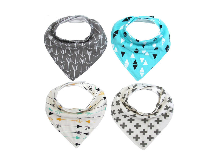 Arrows & Triangle Bandana Bib Set