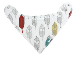 Glasses & Feathers Bandana Bib Set