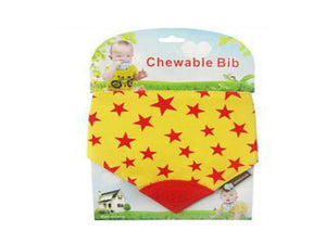 Chewable Bibs Stars Yellow
