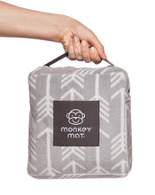 NEW ARRIVAL Plush Monkey Mat - Gray Arrow Print