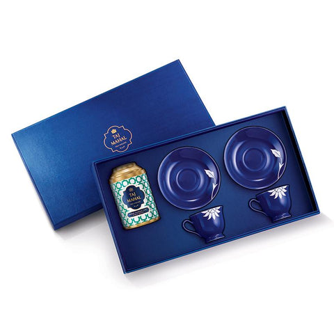 Hindol Bone China Gift Set for Two with Assam Flaming Hue Tea