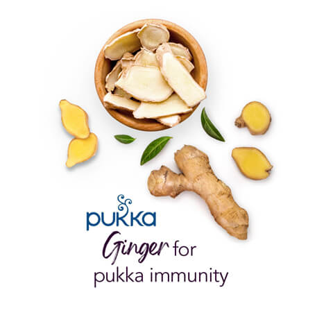 Pukka Three Ginger Herbal Infusion, 20 teabags
