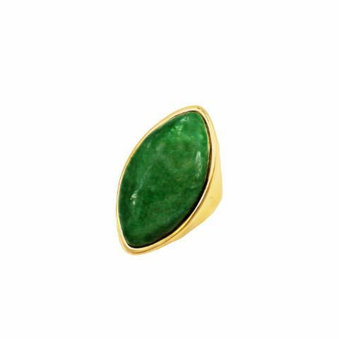 Bellis - Amazonite 18k Gold Plated Ring | LISTIC