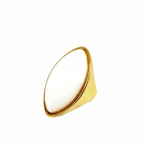 Bellis - Porcelain 18k Gold Plated Ring | LISTIC