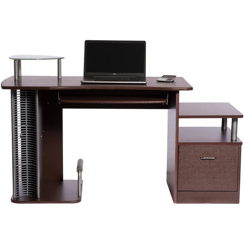 Techni Mobili Brown Computer Desk Complete With Storage   Rugged Vibes