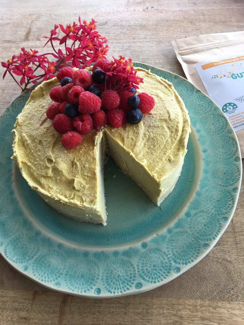 Golden Gut Mango Cheesecake by Lee Holmes