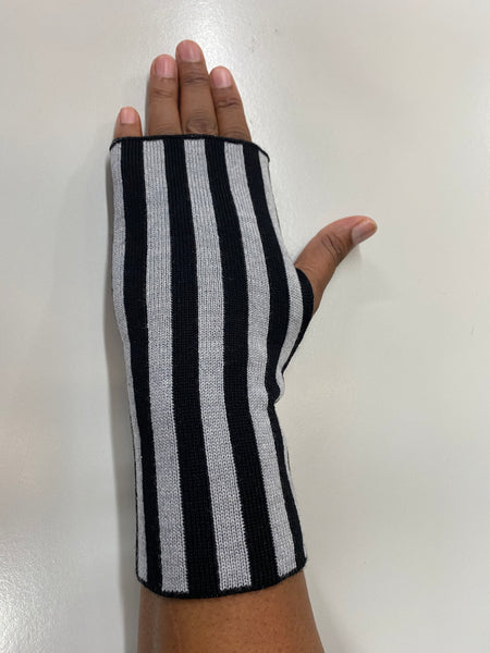 Striped Fingerless Glove