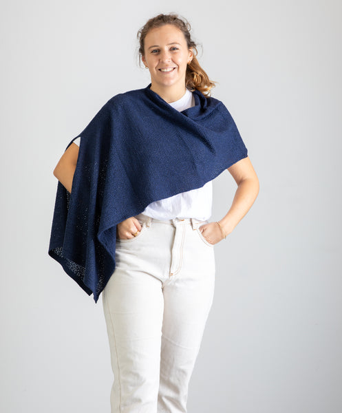 Eyelet Off Shoulder Shrug