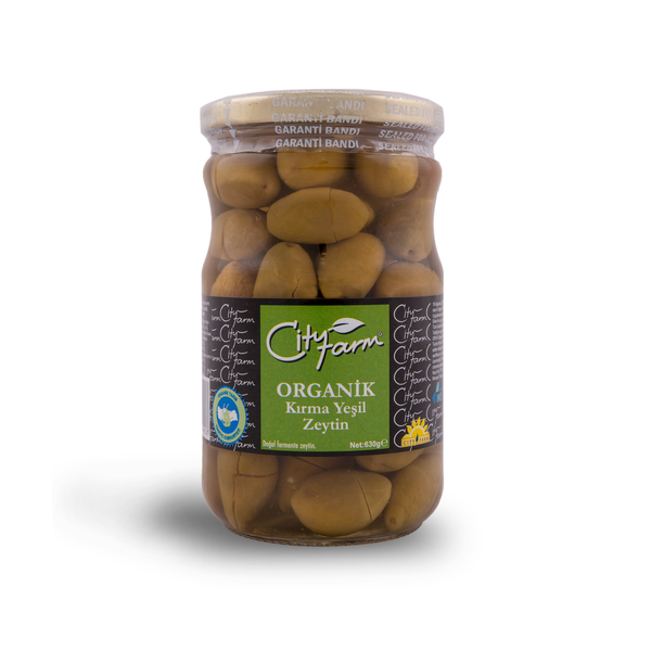 Organic Crushed Green Olives (660g)