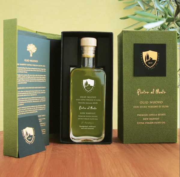 Olio Nuovo - 2017 Harvest Premium Single Estate Extra Virgin Olive Oil (200 ml) with gift box