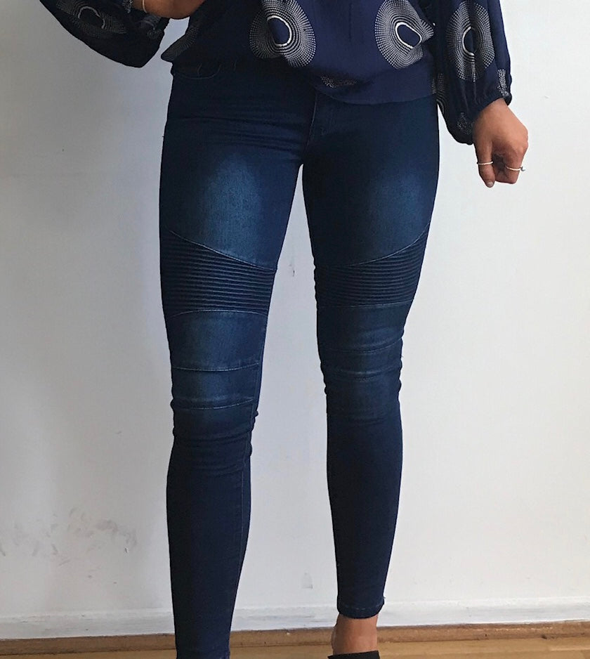 Dark Denim Biker Jean
