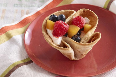 tortilla fruit tart