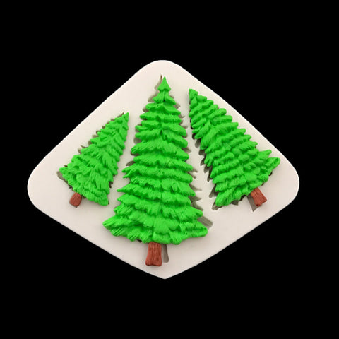 Christmas Tree 3 tress Shape Silicone Cake Mold,Kitchen Baking Mold For Chocolate Pastry Cupcake ,Fondant Decorating H190