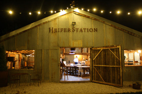Heifer Station cellar door - night time