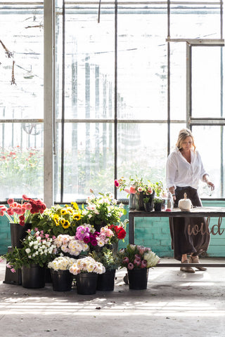 nadine brown at wild flora with flowers