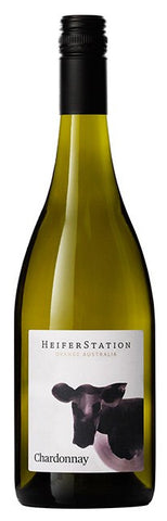 Heifer Station Chardonnay 2014, wine label with cow