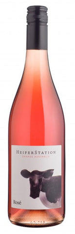 Heifer Station Rose' 2014, wine bottle cowhead design