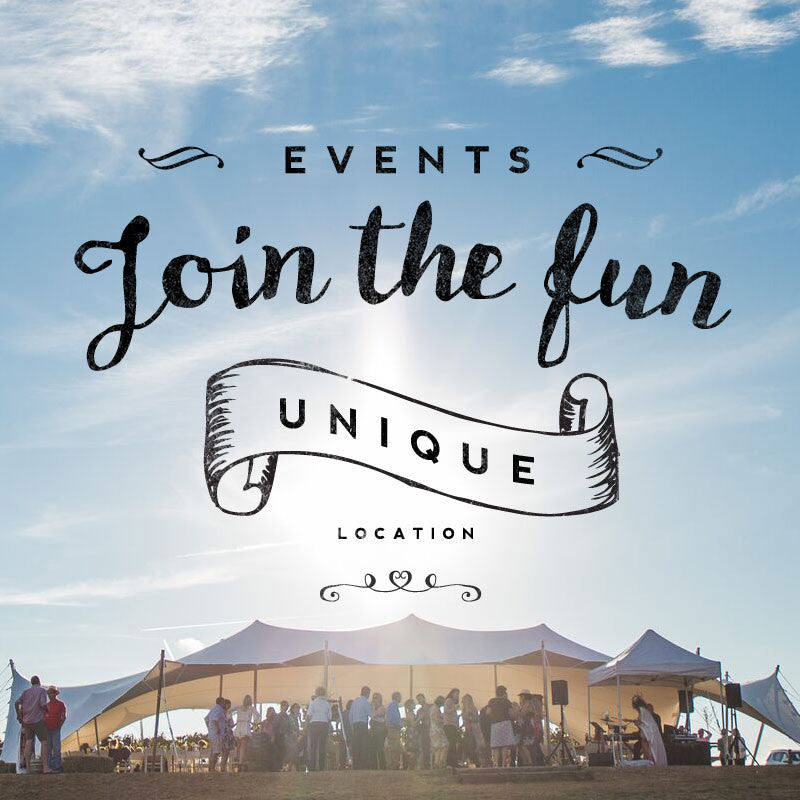 Join in the fun at Heifer Station vineyard events- marquee in the vineyard
