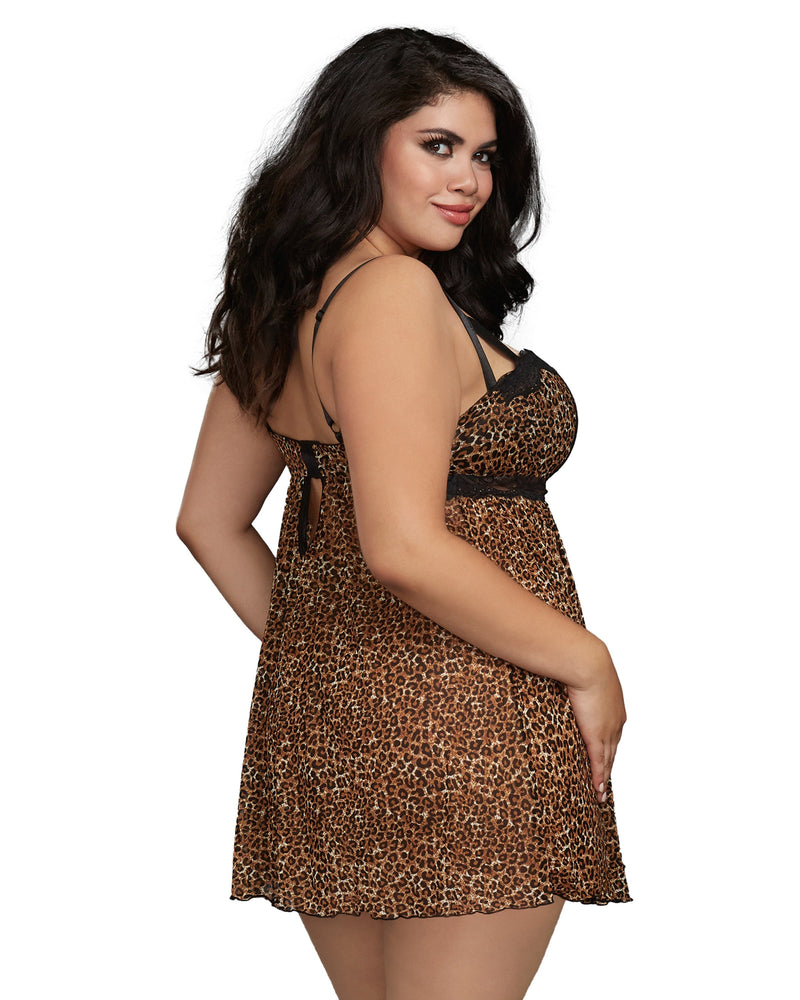 The All Night Cheetah Babydoll