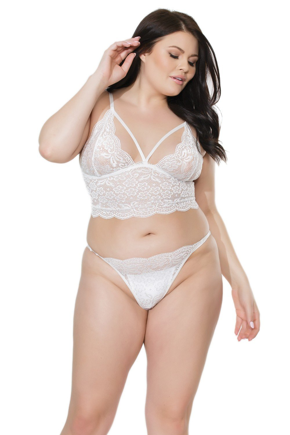The Heaven Bralette & Peek Knicker Set