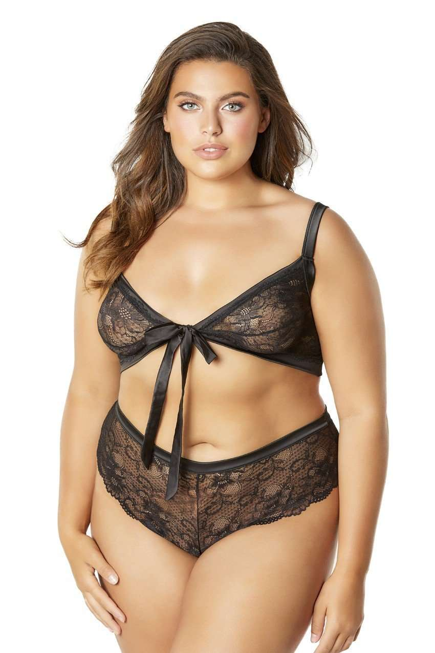 The Lainey Boyshort and Tie Top Set - Unlucky Lingerie