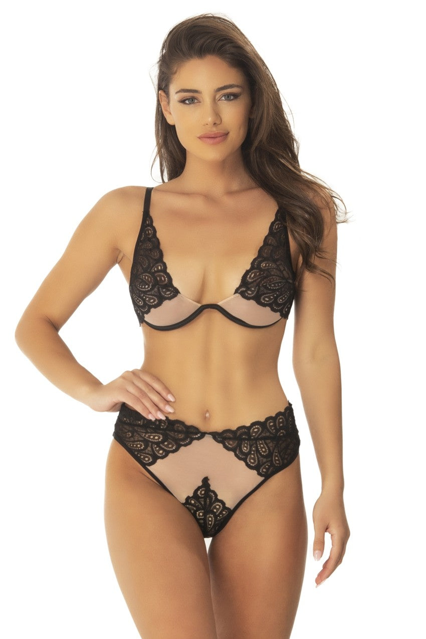 The Mai Mesh and Lace Set