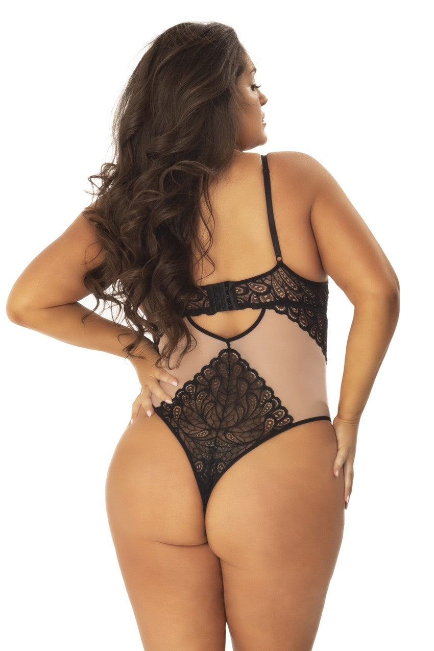 The Mai Mesh and Lace Teddy