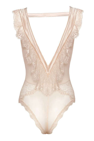 The Nicolette Playsuit in Peony - Unlucky Lingerie
