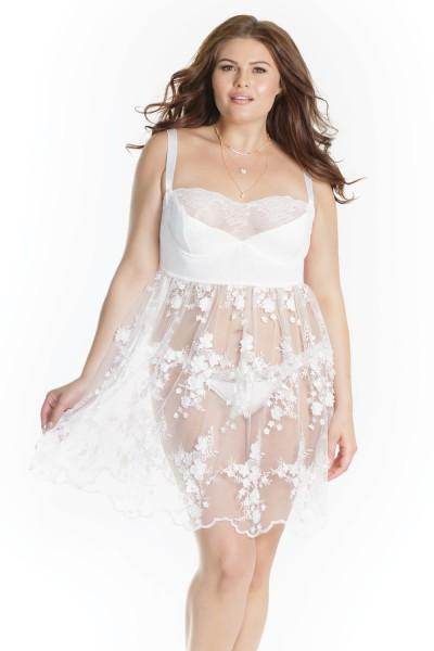 The Anniversary Babydoll in Whisper White