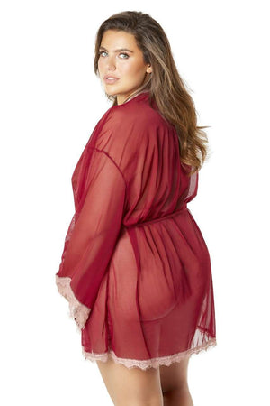 The Merlot Butterfly Robe